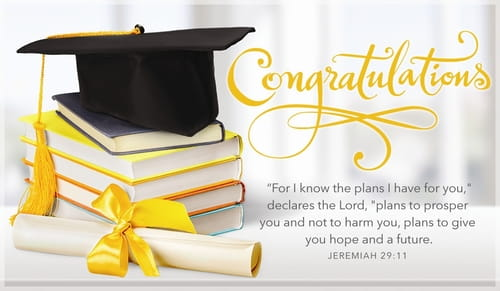 Congratulations - Jeremiah 29:11