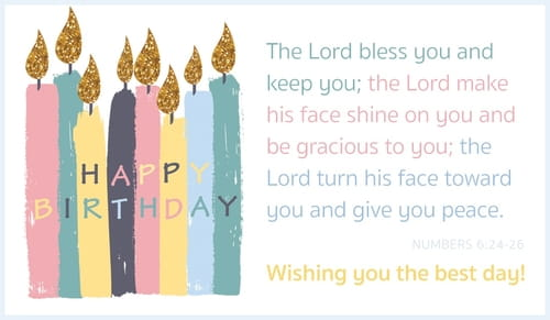 Happy Birthday - Numbers 6:24-26