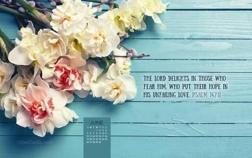 June 2016 - Psalm 147:11