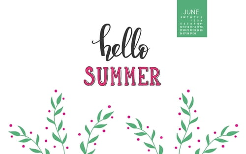 June 2016 - Hello Summer