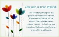 You are a true friend.
