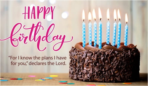 Jeremiah 29:11 - Happy Birthday