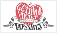 A grateful hearts sees many blessings.
