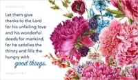 Good Things - Psalm 107:8-9