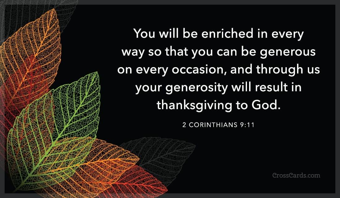 2 Corinthians 9:11