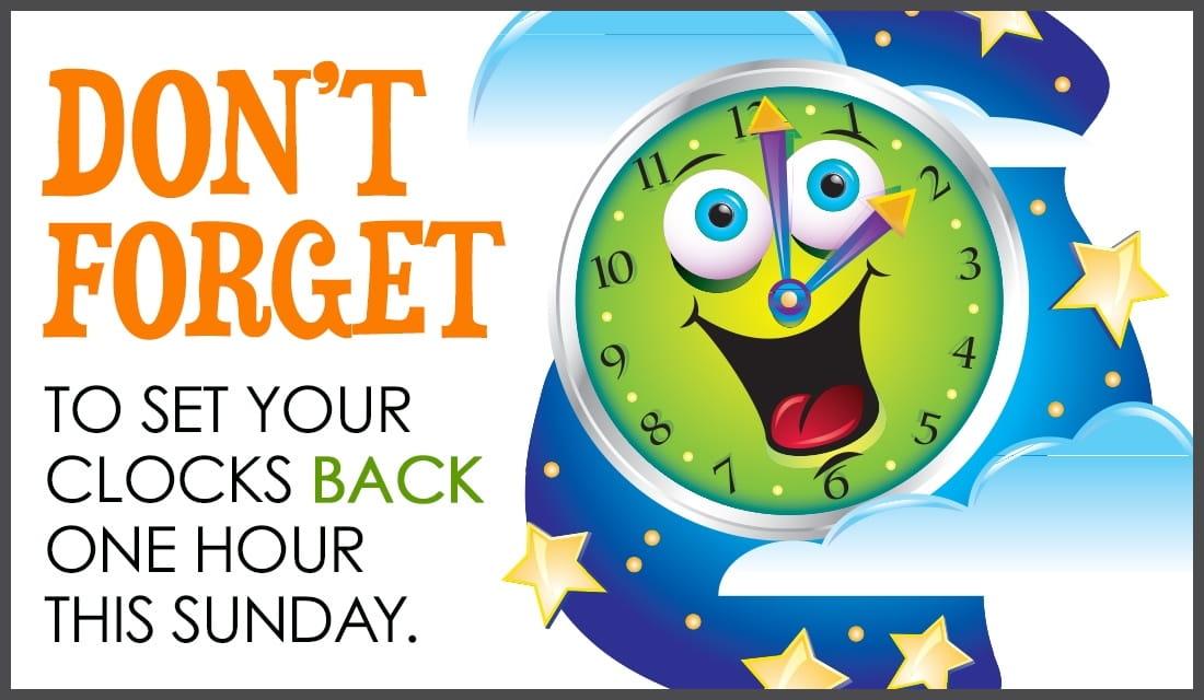 Set Clocks Back