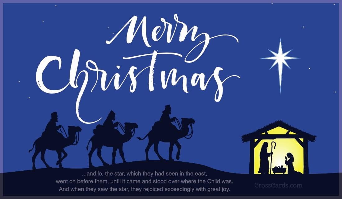 Merry Christmas - Star of Bethlehem