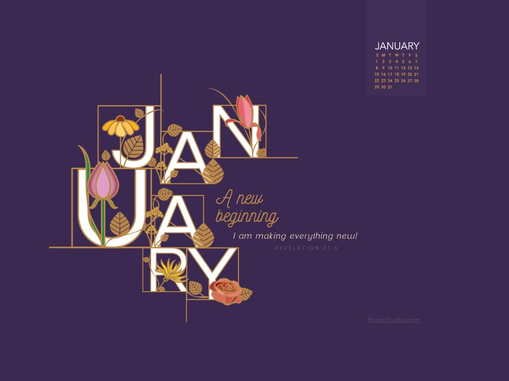 January 2017 A New Beginning Desktop Calendar Free HD Wallpapers Download Free Images Wallpaper [1000image.com]