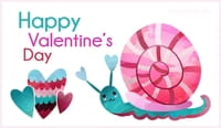 Happy Valentine's Day - Snail