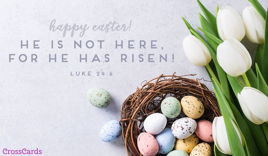 He Has Risen ecard, online card
