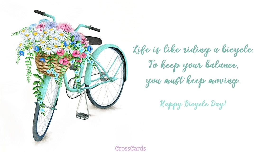 free happy bicycle day   4  19  ecard