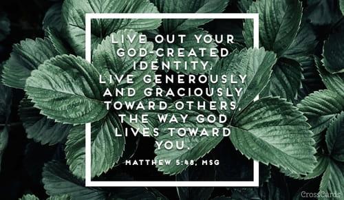 Matthew 5:48, MSG