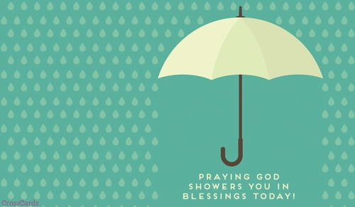 Showered in Blessings