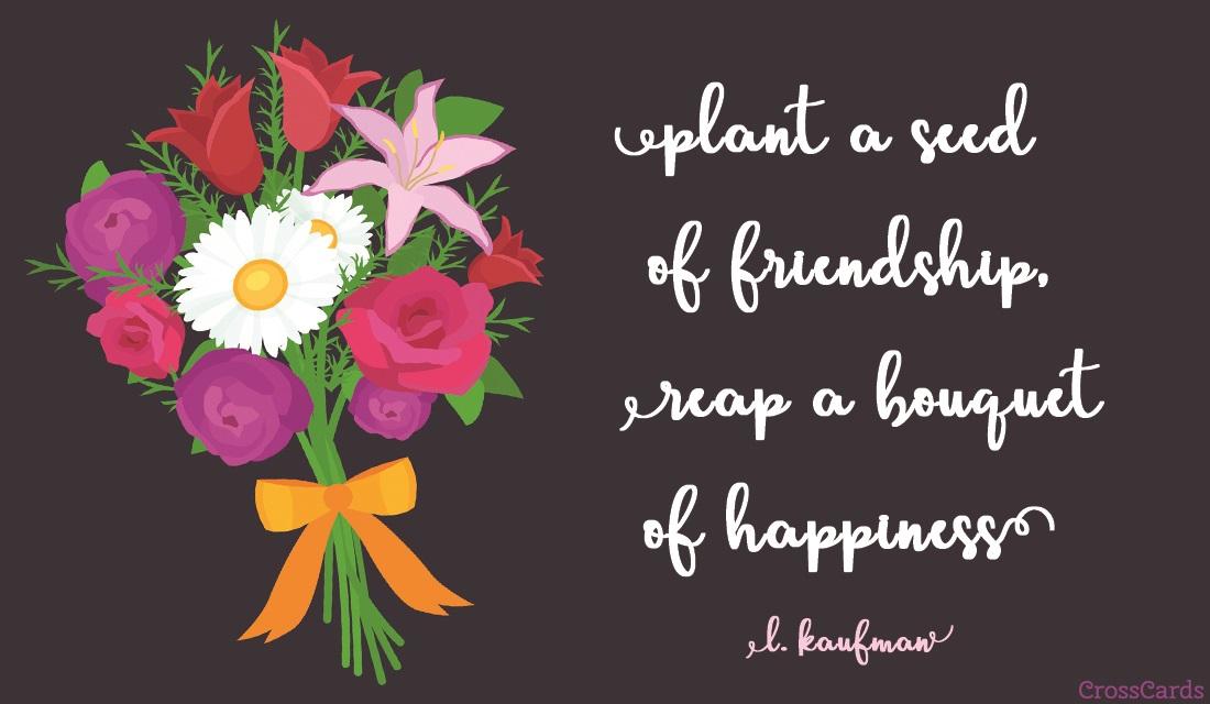 Friendship Bouquet ecard, online card