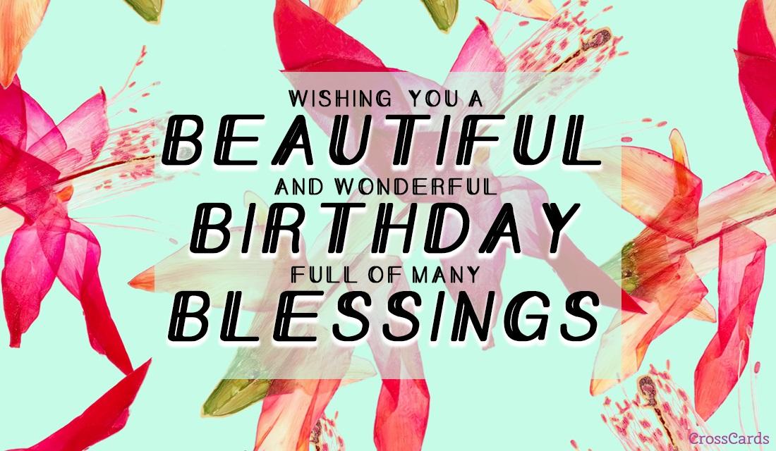 Beautiful Birthday Blessings ecard, online card