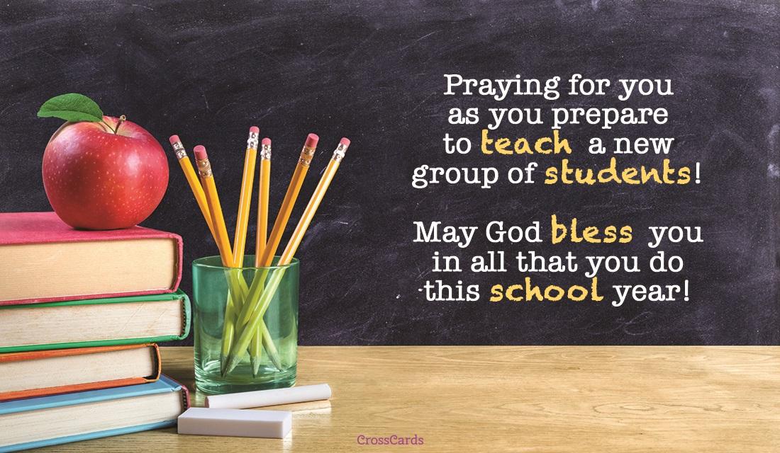 Prayer for Teachers ecard, online card