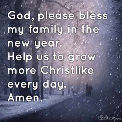 Please Bless My Family in the New Year