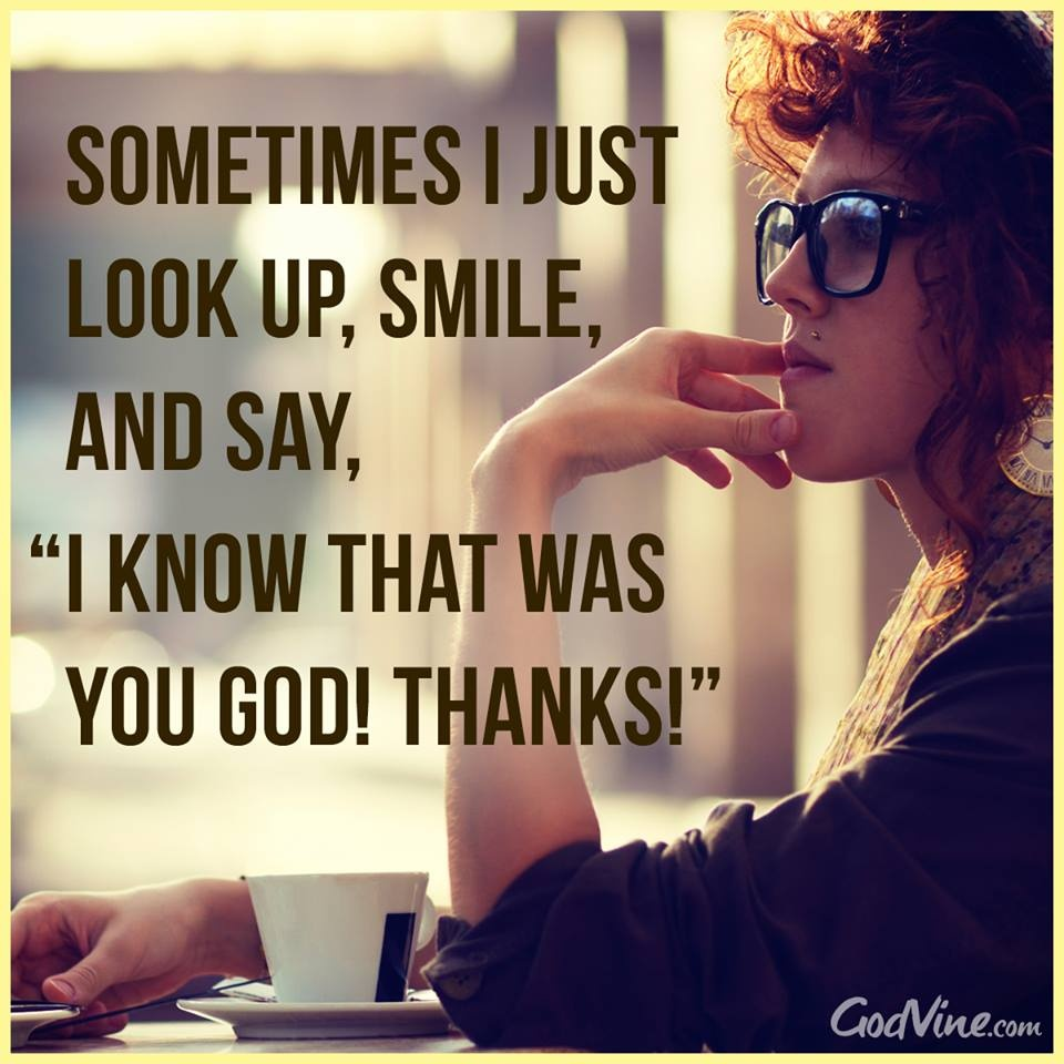 I Know that Was You God, Thanks!