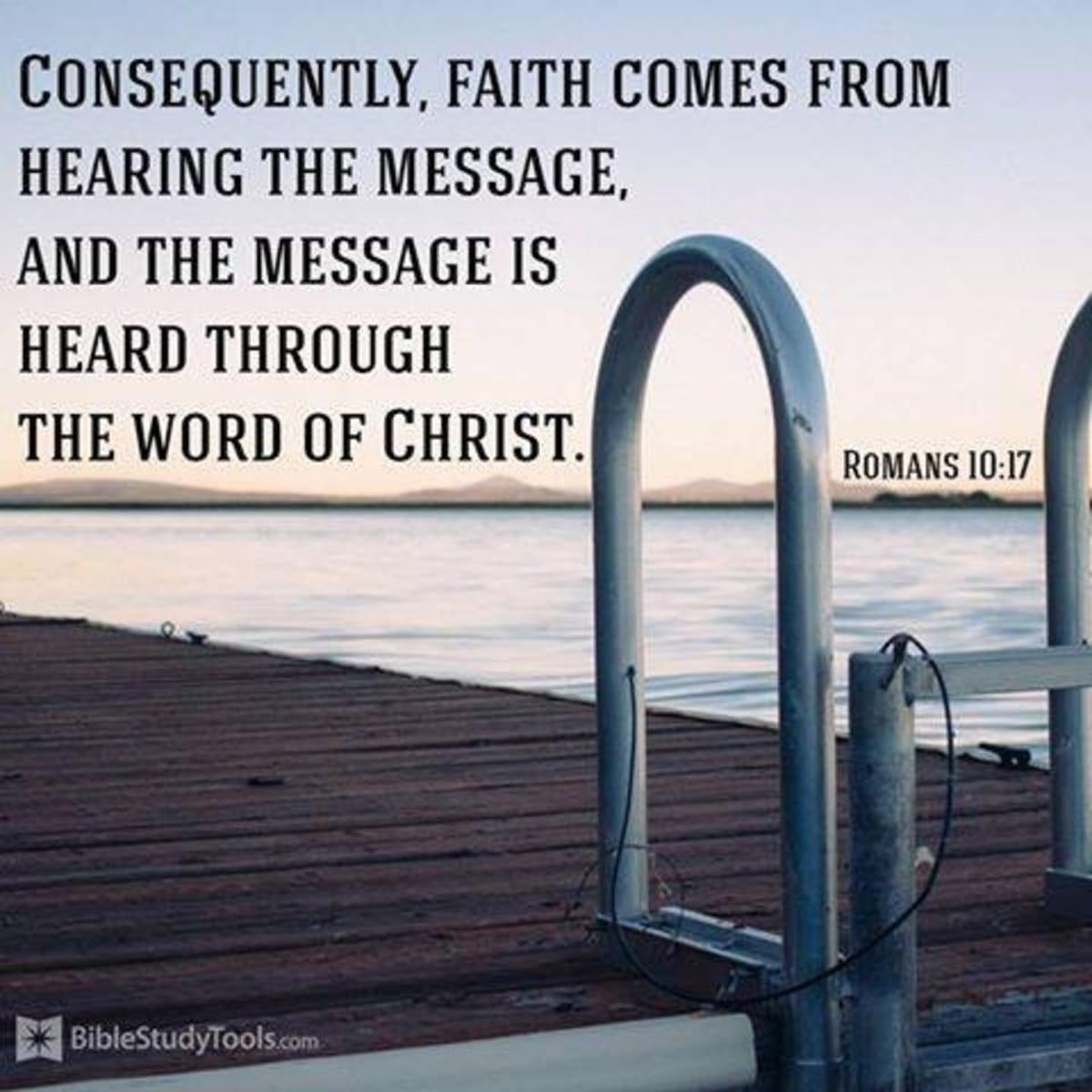 Faith Comes through Hearing