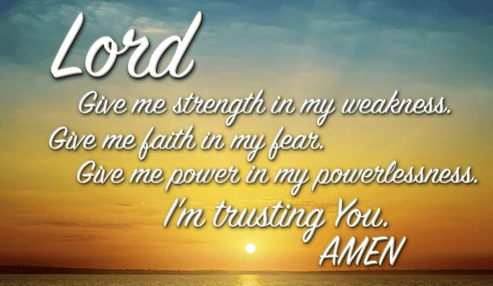 daily prayer for strength