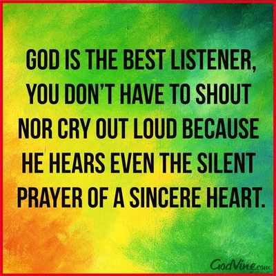 God is the Best Listener