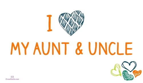 Happy Aunt and Uncle Day! (7/26)