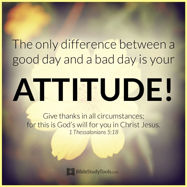The Only Difference Between a Good and Bad Day