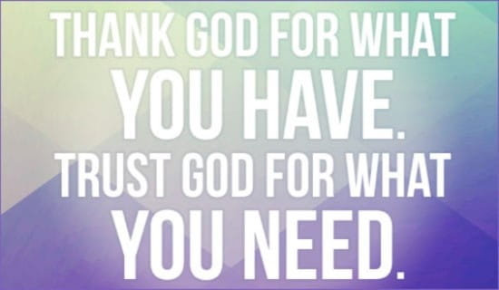 trust god with your money