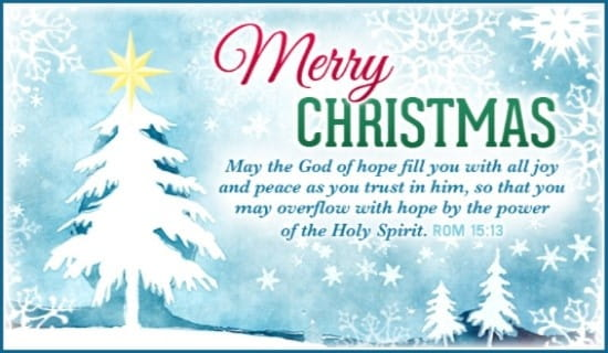 merry christmas may the god of peace
