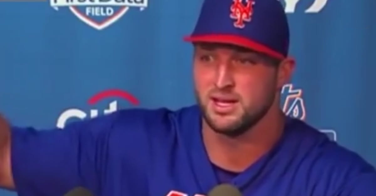Baseballer Tim Tebow Lays the Lumber on Life and Feeling Pressure