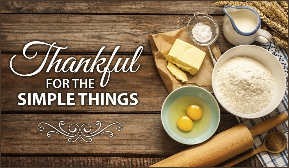 thankful for the simple things - mealtime