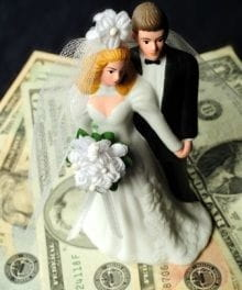 Engagements, Weddings, Marriage and Money