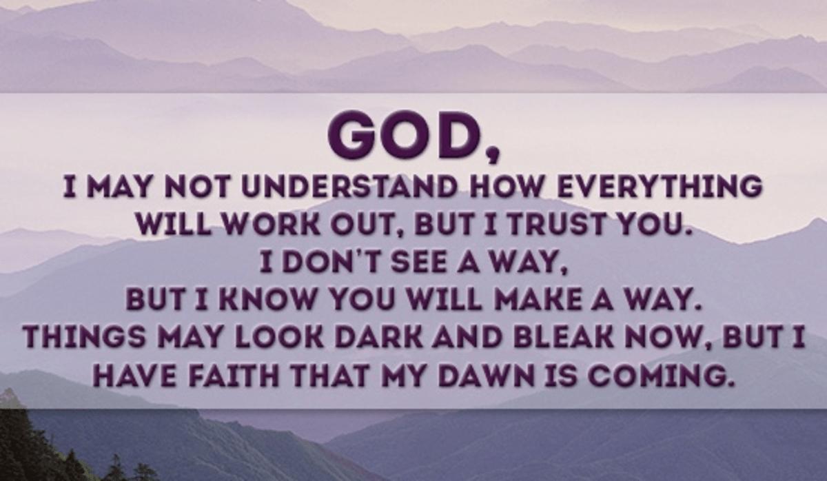I Trust You, God