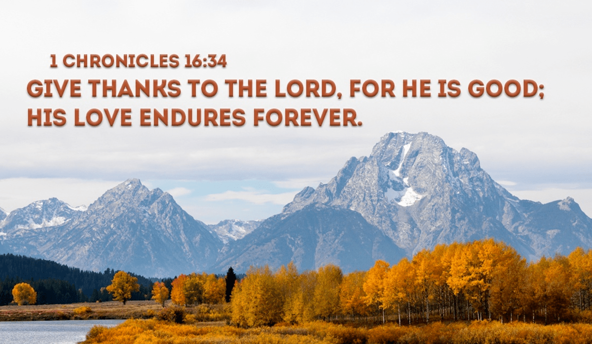 Give Thanks to God!
