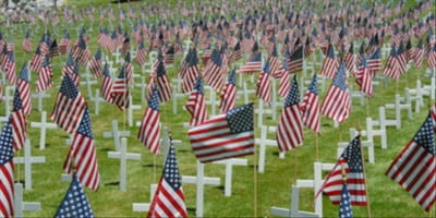 The Flags at the Cemetery