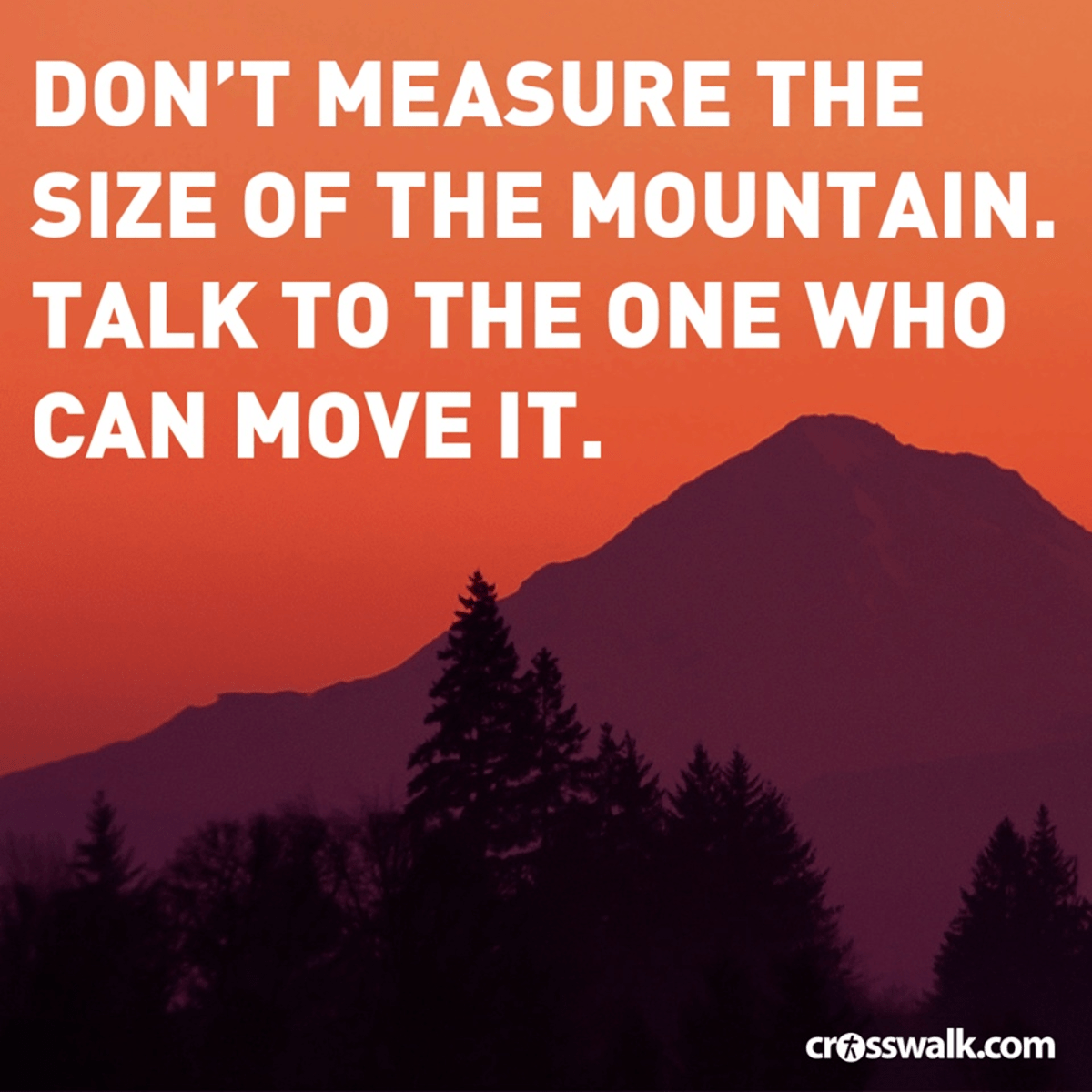 Don't Measure the Size of the Mountain