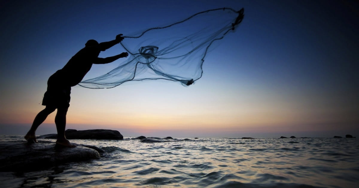 Just throw the net greg laurie daily devotion november for Throw nets for fishing