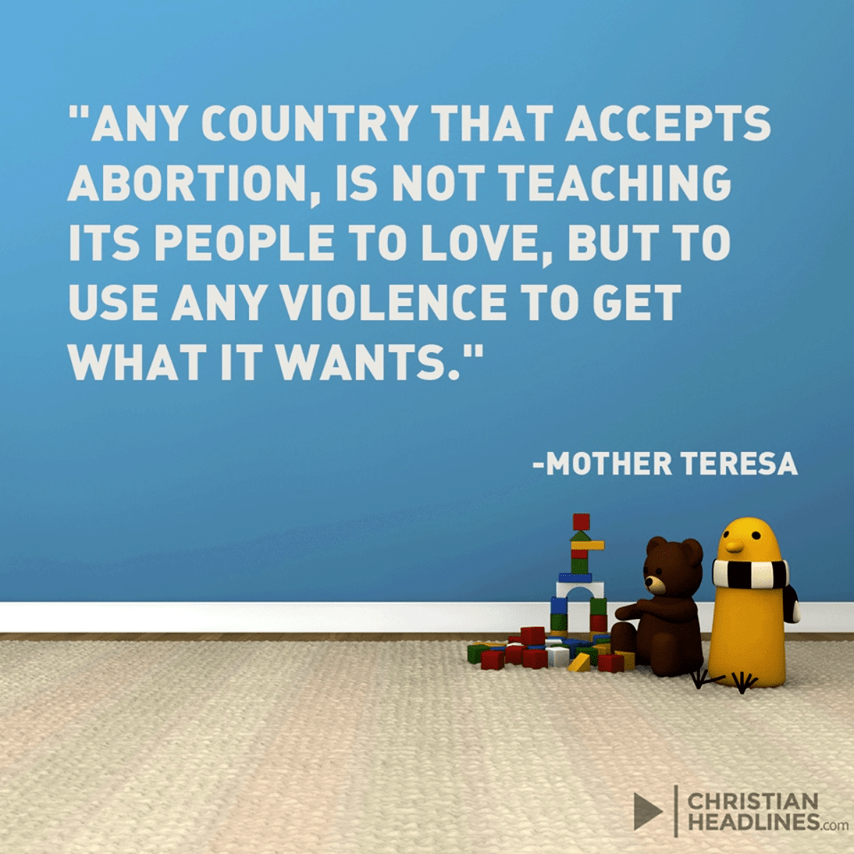 Mother Teresa on Abortion