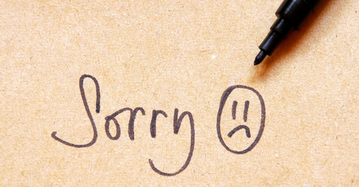 The Best Way to Apologize