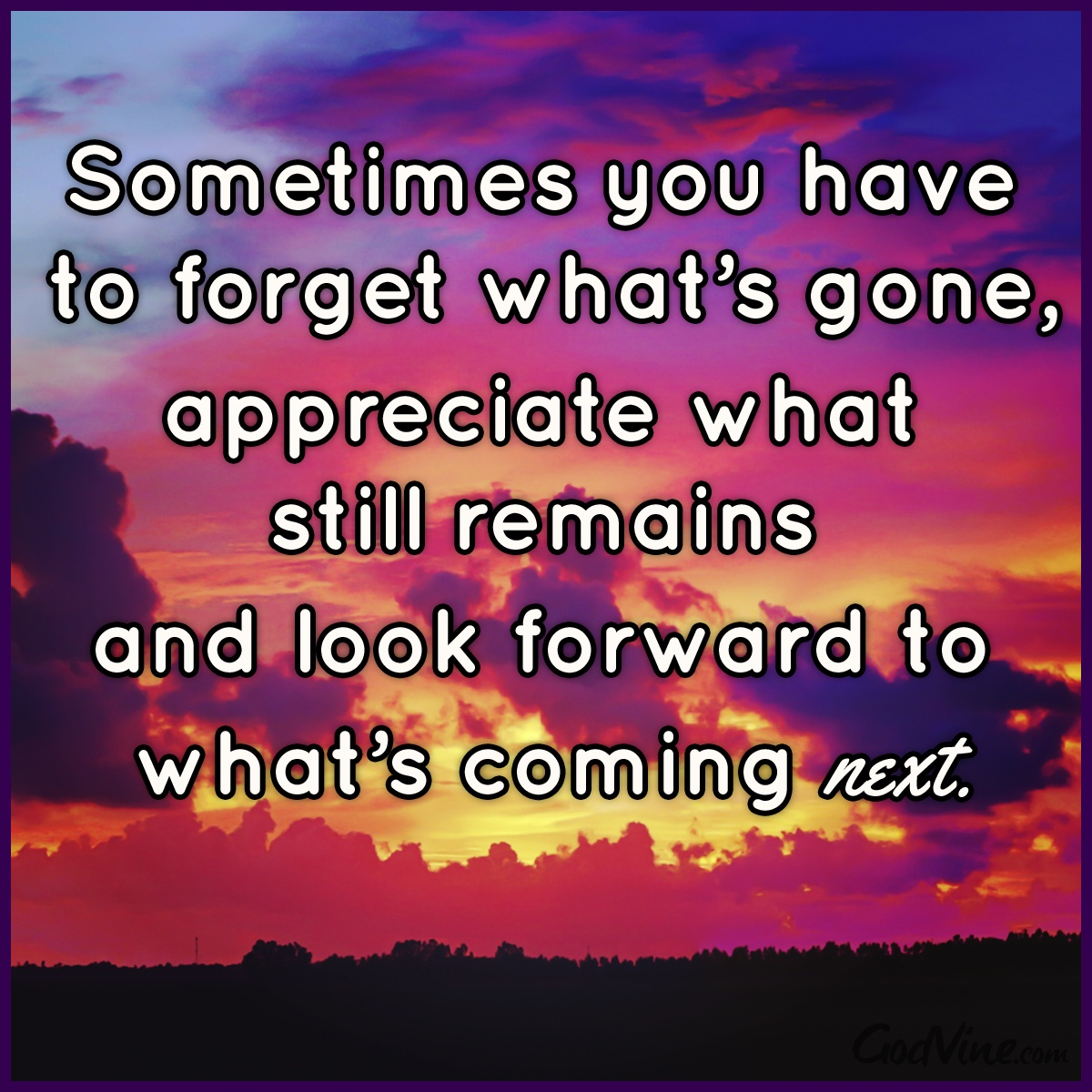 Sometimes You Have to Forget What's Gone