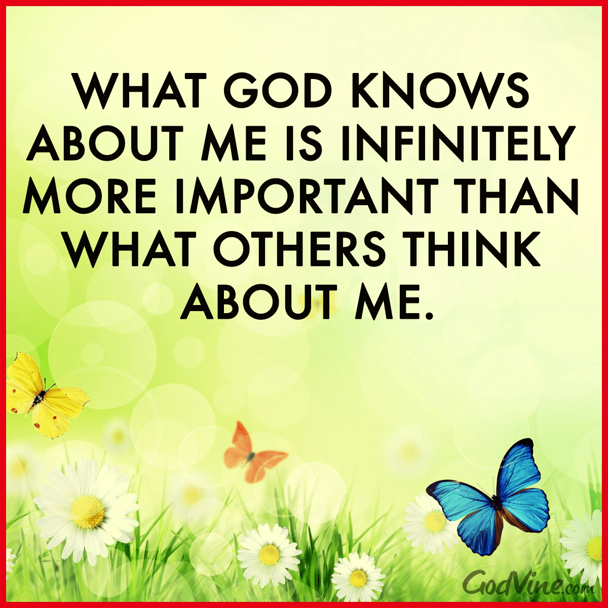 What God Knows About Me, What Others Think About Me