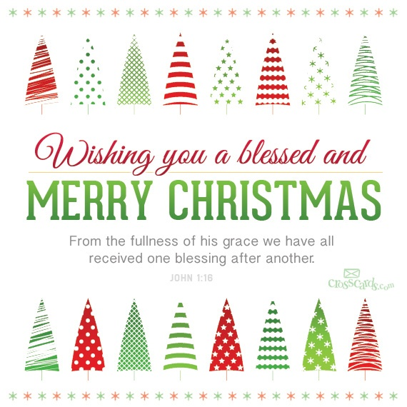 Wishing You a Blessed and Merry Christmas