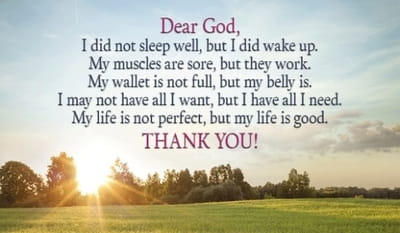 God, Thank You For My Life