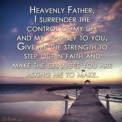 Give Me Your Strength to Step Out in Faith