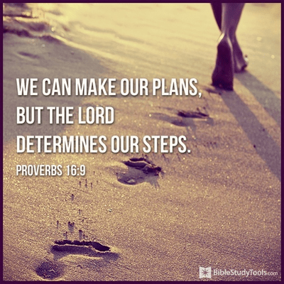We Can Make Our Plans, but the Lord Determines Our Steps