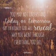 God Will Reveal Why You Went Through What You Did