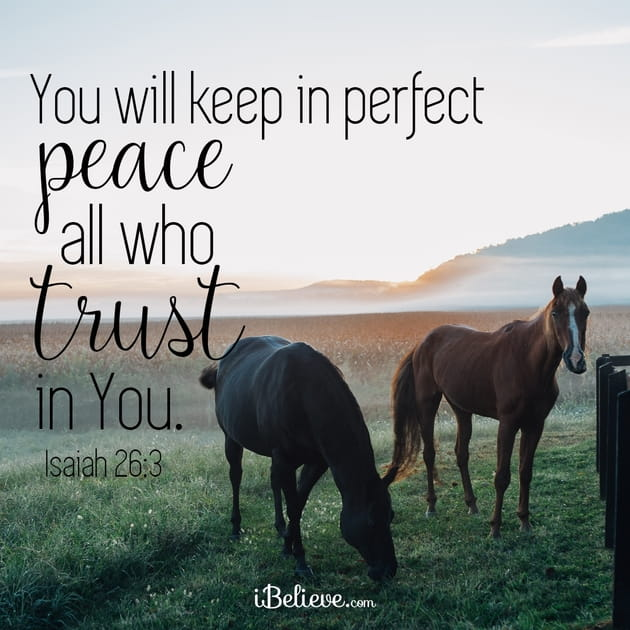 You Will Keep in Perfect Peace All Who Trust in You