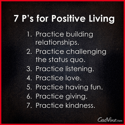 7 P's for Positive Living