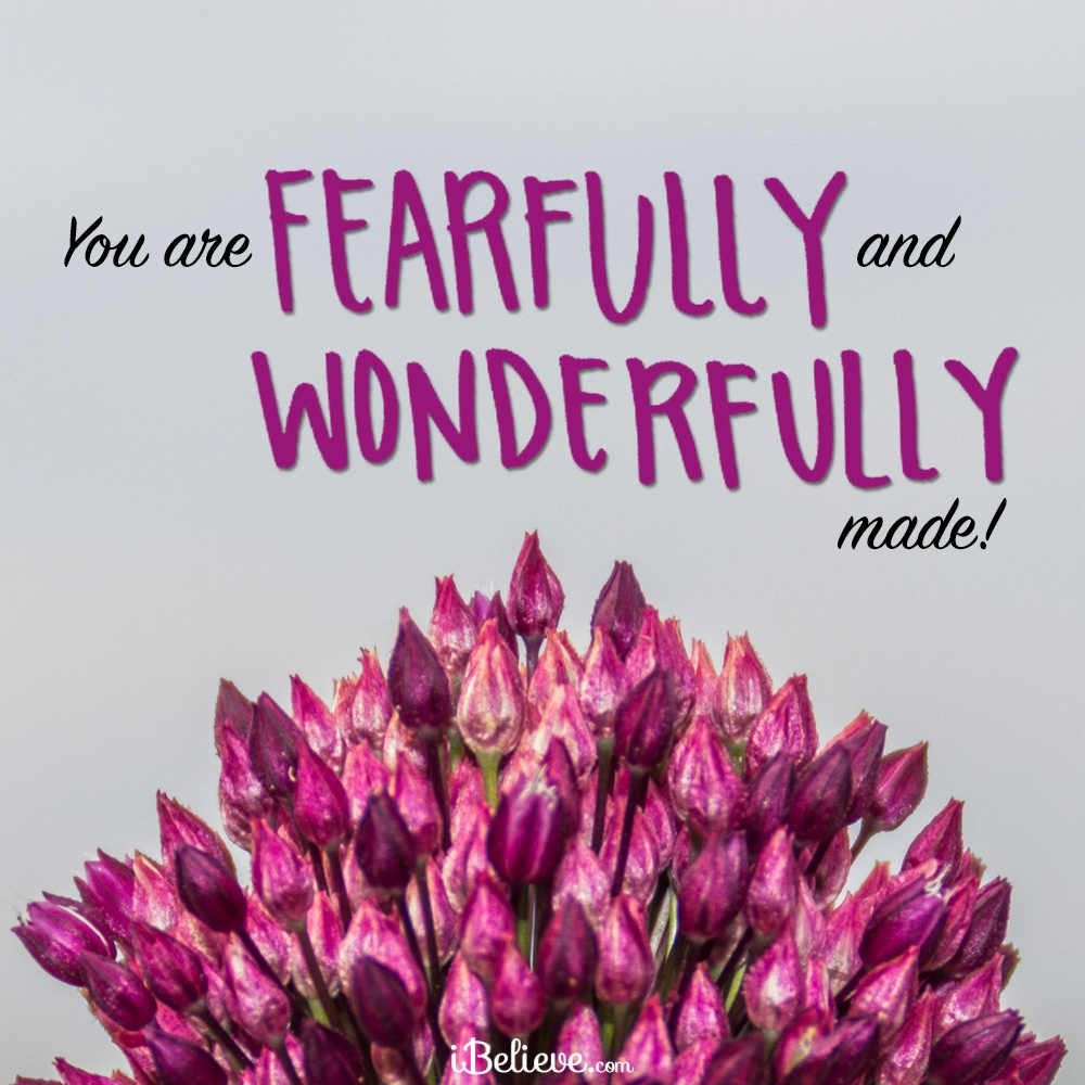 you are fearfully and wonderfully made your daily verse