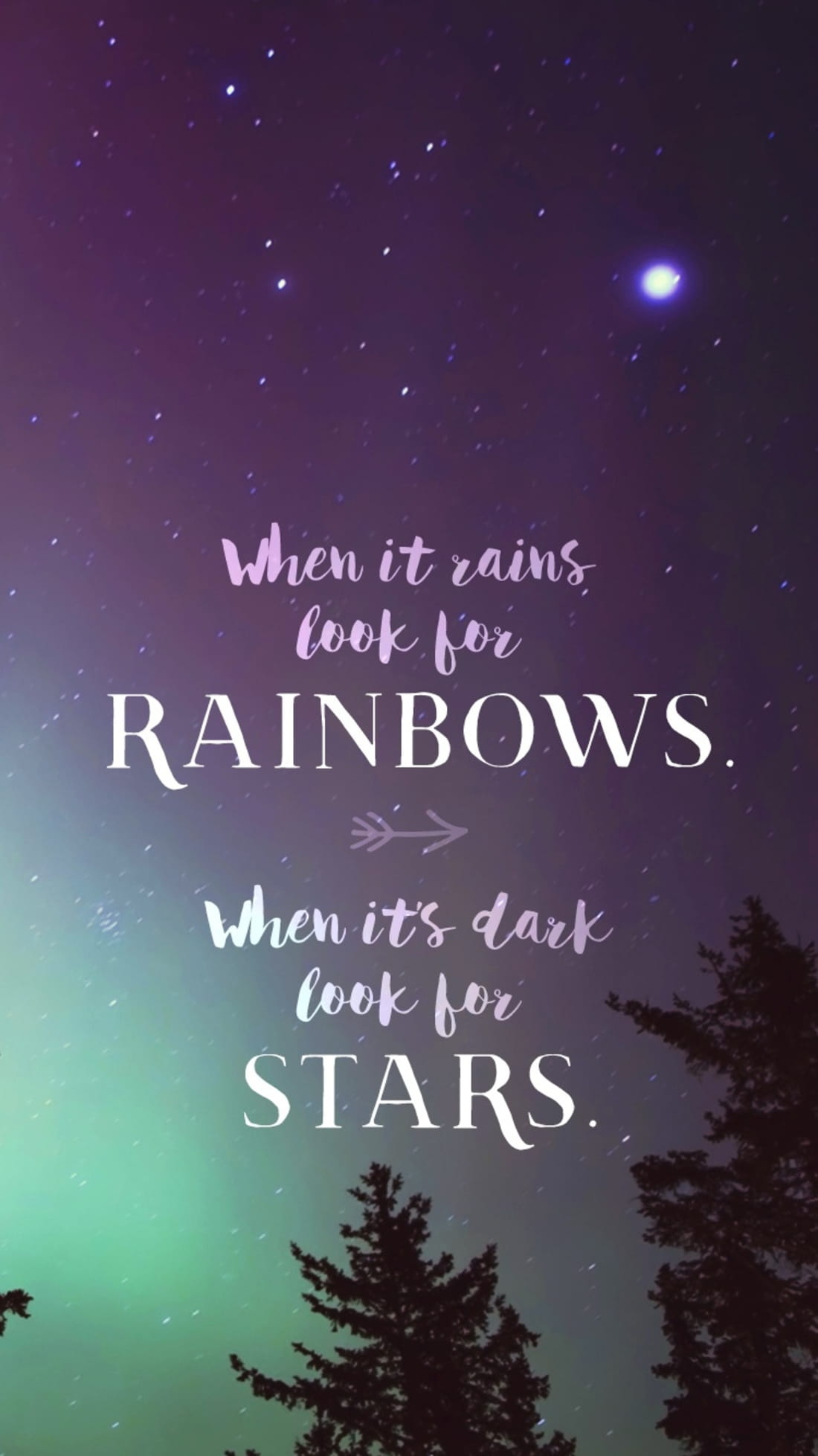 When it rains look for rainbows phone wallpaper and for Refreshing pictures